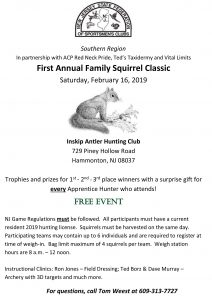 First Annual Family Squirrel Classic